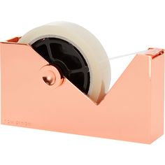 Tom Dixon Cube Tape Dispenser (1 345 ZAR) ❤ liked on Polyvore featuring home, home decor, office accessories and tom dixon
