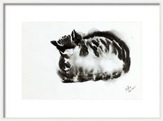 Buy Cat in Ink -Cat Meditation Cat snooze, Painting by Art by Aashaa on Artfinder. Discover thousands of other original paintings, prints, sculptures and photography from independent artists. Small Wall Decor, Original Artwork, Original Paintings, Watercolor Cat, Buy A Cat, Ink Painting, Cat Lover Gifts, Art Auction, Beautiful Paintings