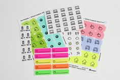 Planner stickers created by contributor Stephanie Klauck using the Sweet Stamp Shop Plan To Work stamp set