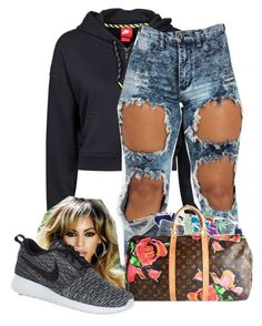 """Send my lipstick off my face,and give me good loveing always -Bahja Rodriguez;Lipstick"" by purplequeen04 ❤ liked on Polyvore featuring NIKE, women's clothing, women's fashion, women, female, woman, misses and juniors"