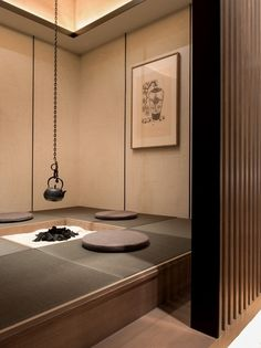 Zen tea fire-place
