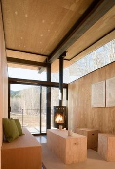 Rolling hut interior