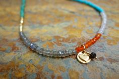 Your place to buy and sell all things handmade Carnelian, Labradorite, Love Necklace, Smoky Quartz, Heart Charm, Peridot, Rose Quartz, Beaded Bracelets, Turquoise