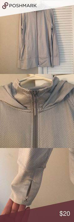Brand new! Never worn Grey & white work out hoodie Grey and white work out hoodie with thumb holes Jackets & Coats