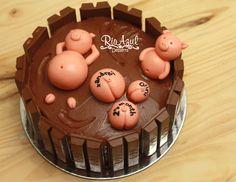 Swimming Pig Cake