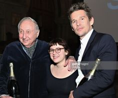 Seymour Bernstein, Emily Roslyn Martin and Ethan Hawke attend as Champagne Piper-Heidsieck and Rooftop Films present a special preview of Ethan Hawke's new documentary 'Seymour: An Introduction' at St. Barts on March 12, 2015 in New York City.