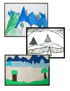 ART Three Landscape Art Lessons - integrating art and geography