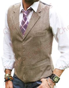 Image result for double breasted mens vest with tie