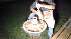 video - Medieval wheel practice 2 Throwing a medieval style of pot on a medieval wheel. Photos and video combined.