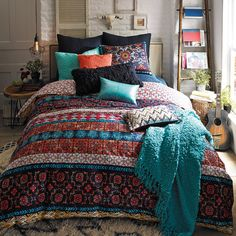 Features: -Queen set includes duvet and 2 standard shams. -King set includes duvet and 2 king shams. -Inspired by the cultural beauty of Mexico City. Product Type: -Duvet set. Color: -Multi-color More
