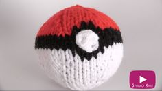 How to Knit a POKEBALL from Pokemon with Studio Knit