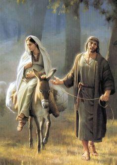 The journey from Mary and Joseph to Bethlehem by Joseph Brickey