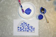 Blueberry Pie Craft - There are a couple of ways to do this craft but my favorite was with the over-sized pencil. Also book suggestions as well as other activities. Free printable included.