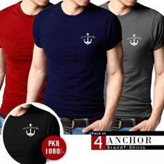 Oshi.pk is bringing a deal of Stylish Simple Anchor T-Shirts (Pack of 4) in such low, reasonable and affordable price which you can't resist. So what are you waiting for? Come and grab this amazing product only at Oshi.pk!