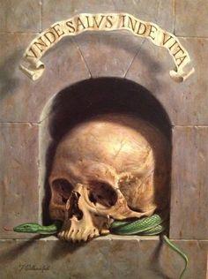 Federico Castellucci. Memento Mori, Macabre Art, Danse Macabre, Skull Reference, Dance Of Death, Vanitas, Skull And Bones, Skull Art, Les Oeuvres