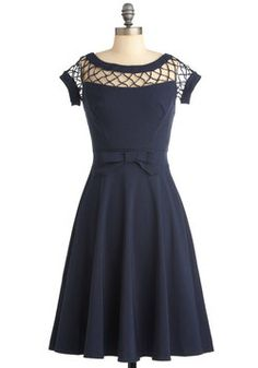With Only a Wink Dress in Navy, #ModCloth