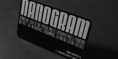 The aluminum business card by nanogram.co