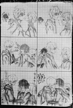 Touka Kirishima x Kaneki Ken x Ayato Kirishima #Tokyo_Ghoul art ~ by Feli ♦