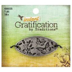 Instant Gratification Burnished Silver Butterfly & Flowers Focal Pendant - $2.99 ~ Hobby Lobby