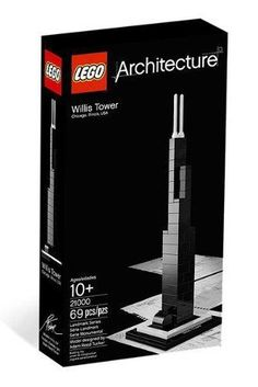 LEGO Architecture Willis Tower Design Chicago 21000 Boys & Girls 10+ 4643338 NEW #LEGO