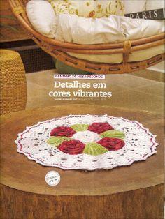 Centro de mesa de croche redondo - CROCHE COM RECEITAS