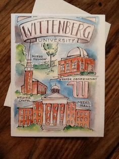 Wittenberg University watercolor notecard