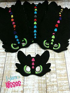 20 Party pack Toothless How to Train your Dragon  Felt by Pluzzies