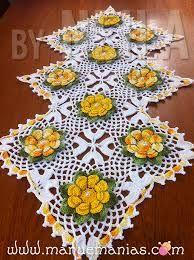 Resultado de imagen para caminhos de mesas em croche