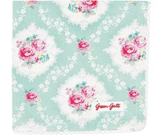GreenGate Bread Basket Napkin - Phoebe Mint - With Lace - Buy here online - Green Gate Item BREpho3408L