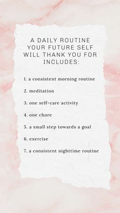 A daily routine makes your day brighter by dedicating time to areas of your life that bring you happiness, peace, and fulfillment. routine checklist routine daily routine for oily skin routine ideas routine schedule routine skincare routine weekly Self Care Activities, Self Improvement Tips, Good Habits, Healthy Habits, Self Care Routine, Fitness Workouts, Best Self, Self Development, Personal Development