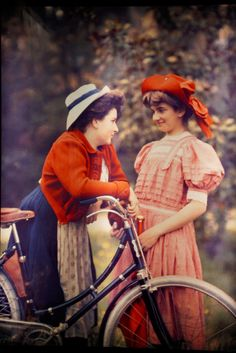 maudelynn: The Bicycle, vintage Autochrome