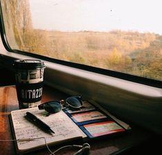 Imagem de coffee, travel, and book