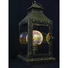 Signature Firework Lantern Lamp From The Curiosity Shopper Crew. ($130) ❤ liked on Polyvore featuring home, lighting, bulb light, steampunk lighting, cord lights, colored lanterns and incandescent lamp