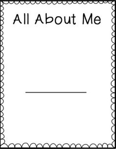 Free My All About Me Journal- great for the end of the year student writing