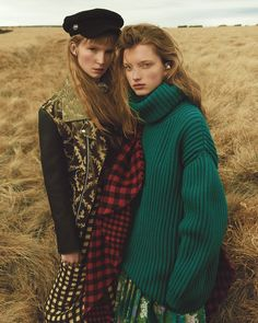 Harper's Bazaar Czech December 2017 Kristin Drab and Martyna by Andreas Ortner - Fashion Editorials