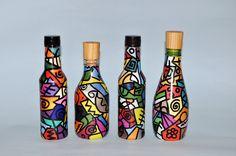 garrafas de natal customizadas - Pesquisa Google