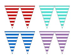 Free Printable Bunting & Garland & Banner Decorations