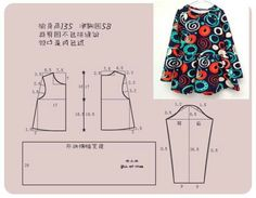 vestido talla 5 Dress for gals Kids Dress Patterns, Baby Clothes Patterns, Sewing Patterns For Kids, Sewing For Kids, Baby Sewing, Baby Patterns, Clothing Patterns, T Shirt Diy, Sewing Clothes