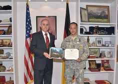 U.S. Army Sgt. 1st Class Drexel Barayuga was awarded the Defense Meritorious Service Medal for his duties as the Senior Enlisted Advisor from Nov. 8, 2012 to November 20, 2015 at the George C. Marshall European Center for Security Studies, during an award