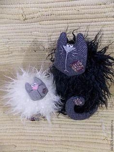 Игрушки животные, ручной работы. Заказать Коты байкерские. Зинаида (Истории кота носотряпа). Ярмарка Мастеров. Белый кот