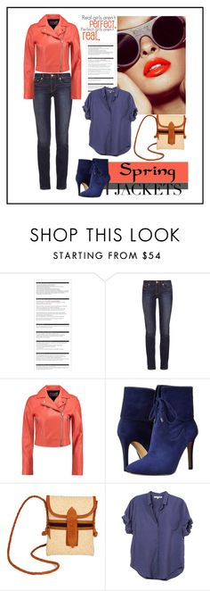 """""""Spring Jackets"""" by ul-inn ❤ liked on Polyvore featuring Arche, Tory Burch, T By Alexander Wang, GUESS, TLC&you and Xirena"""