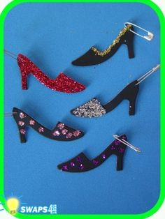 FRANCE ITALY Fashionista High Heeled Shoe  Scout SWAPS Girl Craft Kit-Swaps4Less