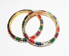 Pair of Signed Stretch Bracelets by Joan Rivers by MardiGrasShoppe