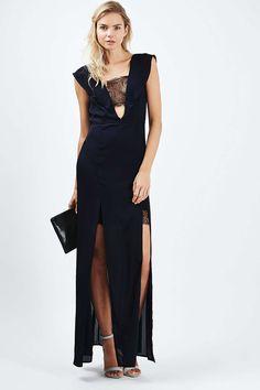 TALL Lace Trim Maxi Dress