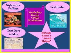 Cloze Worksheets for Houghton Mifflin Harcourt Third Grade Theme 4