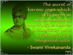 Srimad Bhagavad Gita - Divine Song of God Saints Of India, Swami Vivekananda, Bhagavad Gita, Lord Krishna, Inspirational Thoughts, People Quotes, Picture Quotes, Karma, Art Quotes