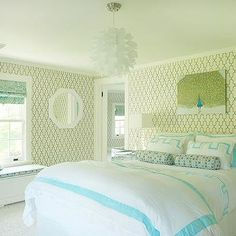 Turquoise Moorish Tile Wallpaper