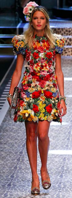 Dolce&Gabbana Outono inverno 2017/18 MFW - Floral - Helena Bordon