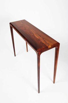 Table console / design scandinave / en bois de rose / rectangulaire - PD 60 - paere dansk