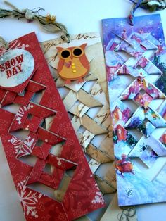 From Aura: Snow Day Crafting  use old cards!